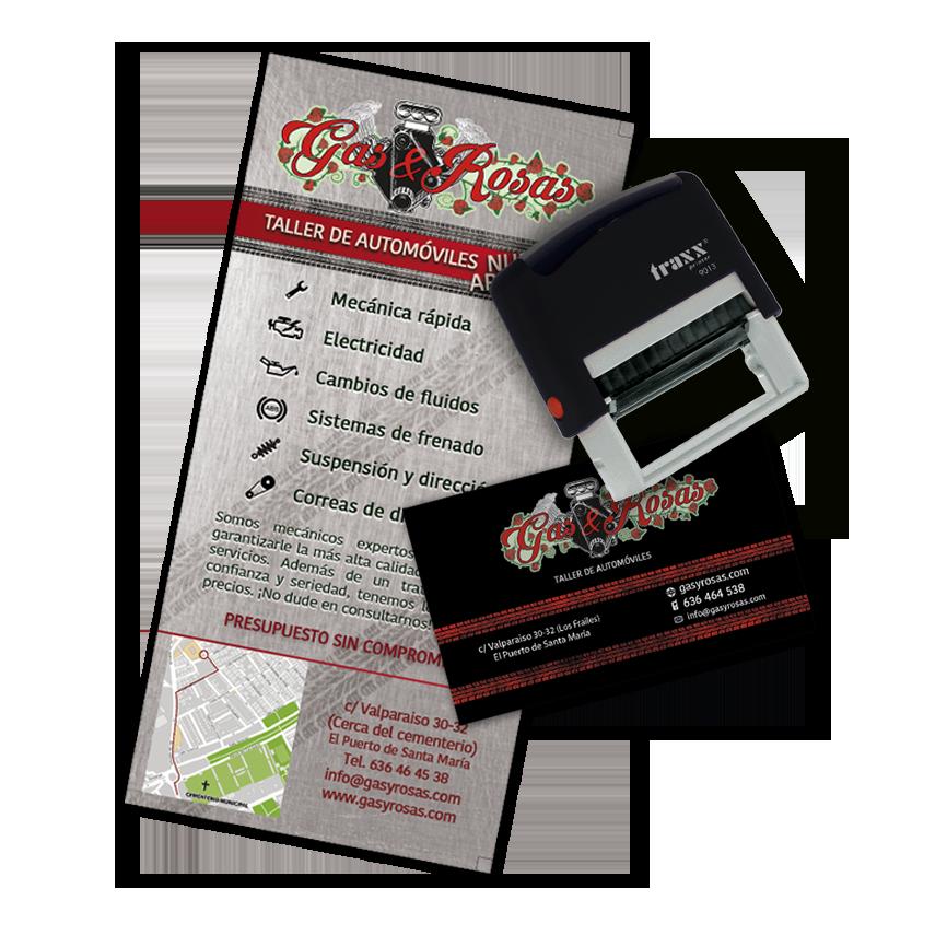 Gas&Rosas – Logo, Web y Material Publicitario