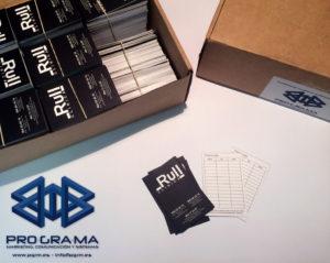 imagen tarjetas de visita clínica Rull
