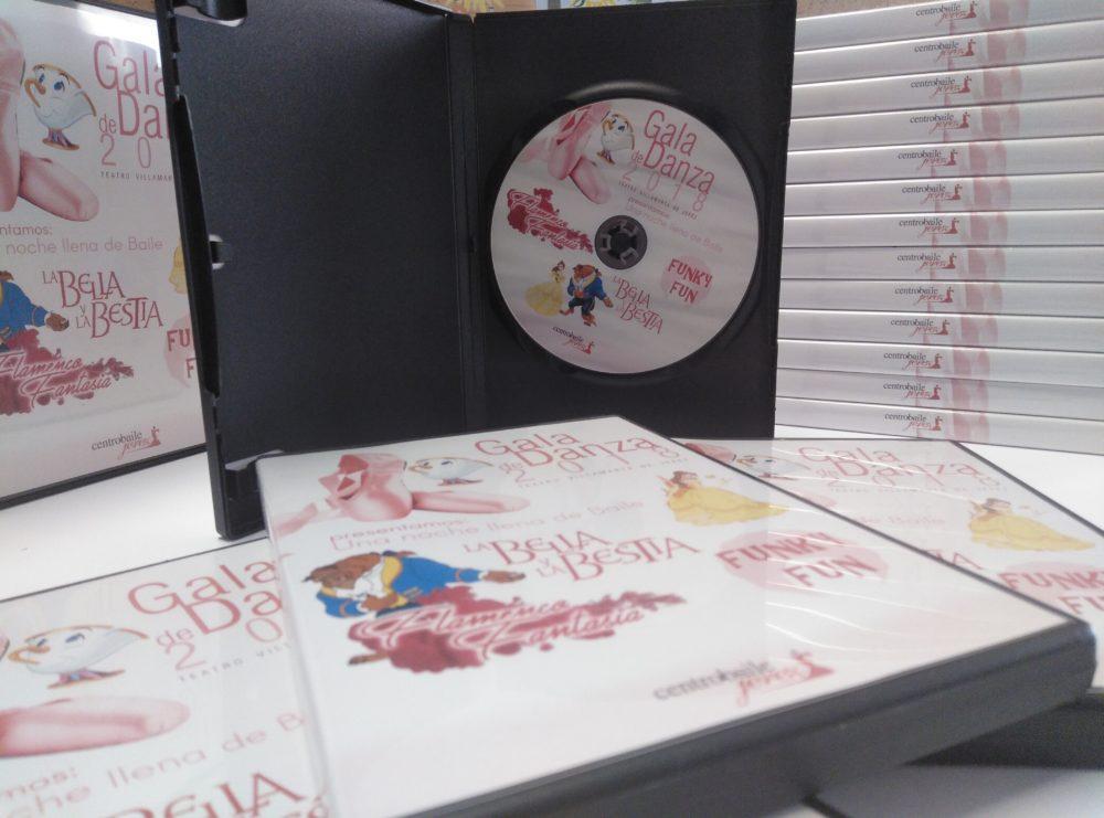 DVDs centro baile Jerez Bella y Bestia